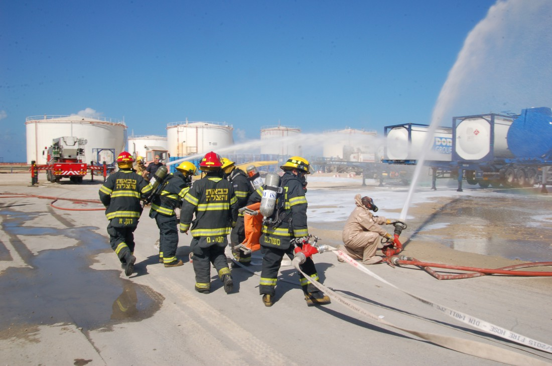 Emergency drill  at Dor Chemicals in Haifa