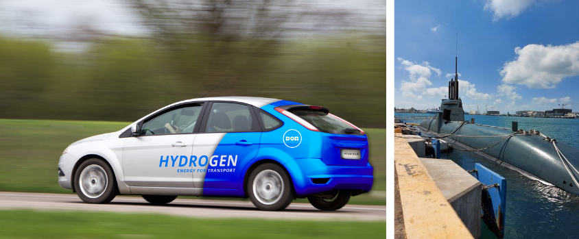 Hydrogen Fuel for Transportation Private Cars and Submarines